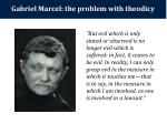 gabriel marcel the problem with theodicy