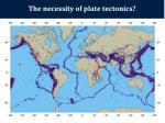 the necessity of plate tectonics