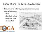 conventional oil gas production