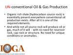 un conventional oil gas production