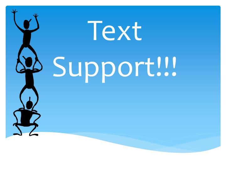 text support n.