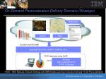 on demand personalization delivery scenario strategic