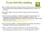 if you feel like reading