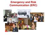 emergency and risk communication erc