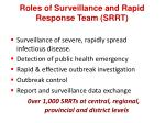 roles of surveillance and rapid response team srrt