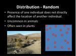 distribution random