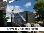 grants to green non profits