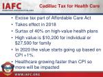 cadillac tax for health care