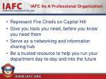 iafc as a professional organization