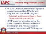 national preparedness grants