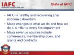 state of iafc