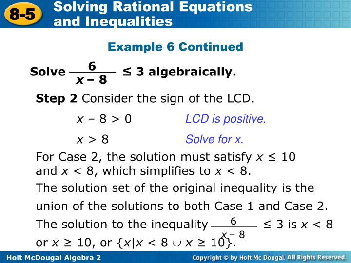 Solve              ≤ 3 algebraically.