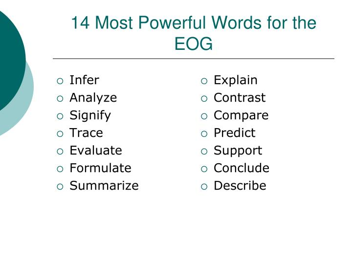 14 most powerful words for the eog n.