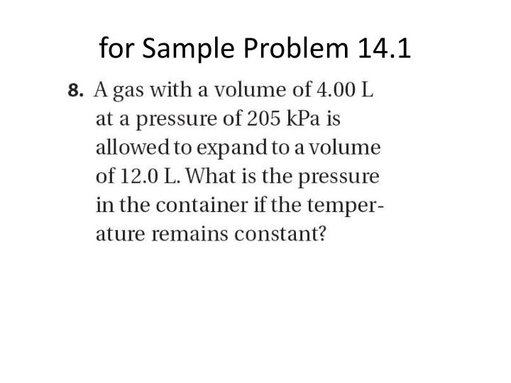 for Sample Problem 14.1