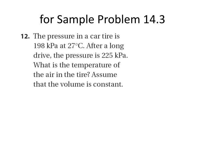 for Sample Problem 14.3