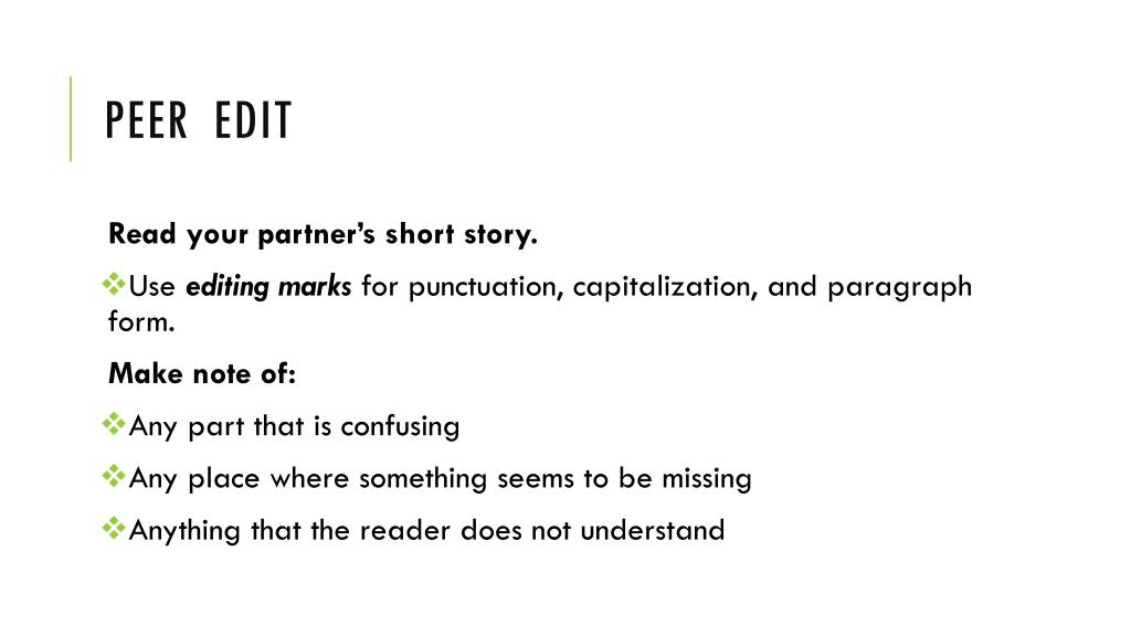 PPT - Write a Short Story PowerPoint Presentation - ID:2077093