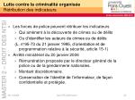 lutte contre la criminalit organis e r tribution des indicateurs