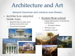 architecture and art stressed american and common man themes