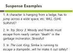 suspense examples