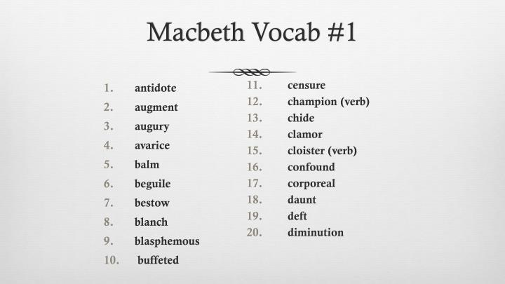 macbeth vocab 1 n.
