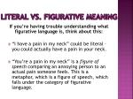 literal vs figurative meaning