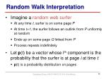 random walk interpretation