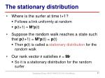 the stationary distribution