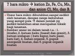 7 hara mikro kation zn fe cu mn dan anion cl mo dan b