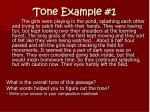 tone example 1