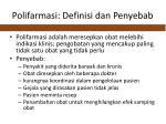 polifarmasi definisi dan penyebab