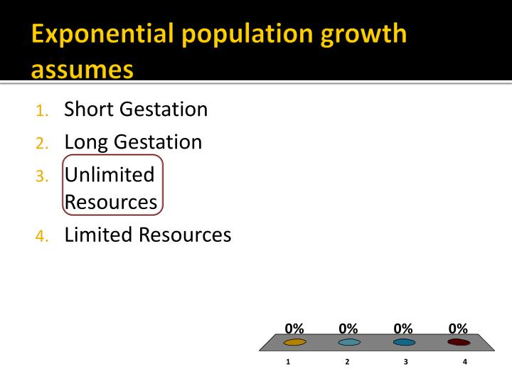 Exponential population growth assumes
