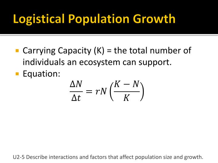 Logistical Population Growth