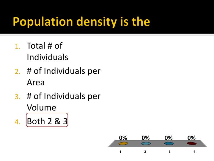 Population density is the