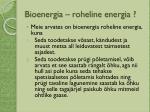 bioenergia roheline energia