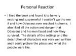 personal reaction