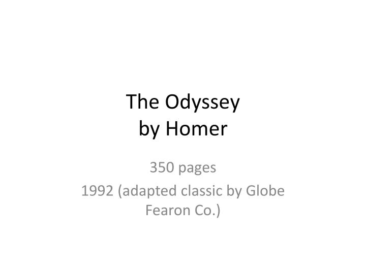 the odyssey by homer n.