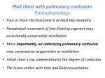 flail chest with pulmonary contusion pathophysiology