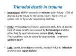 trimodal death in trauma
