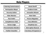 role players
