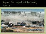 japan earthquake tsunami april 7