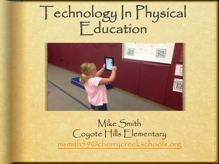 technology in physical education n.