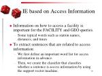 ie based on access information