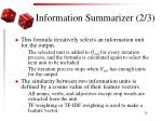information summarizer 2 3