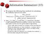 information summarizer 3 3