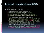 internet standards and rfcs