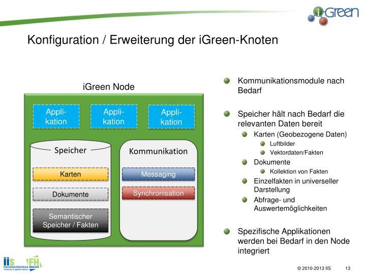 Konfiguration / Erweiterung der iGreen-Knoten