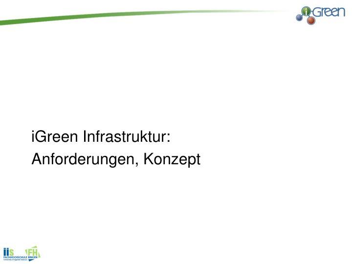 iGreen Infrastruktur: