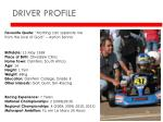 driver profile