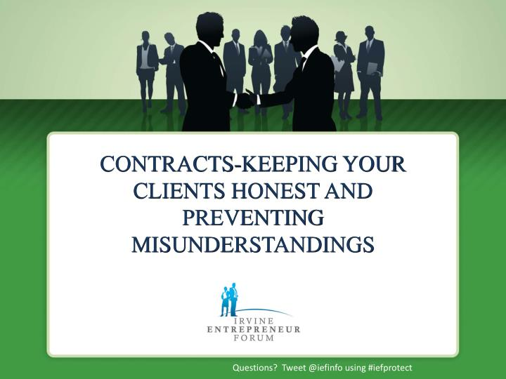 contracts keeping your clients honest and preventing misunderstandings n.
