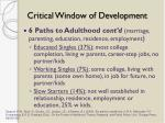 critical window of development1